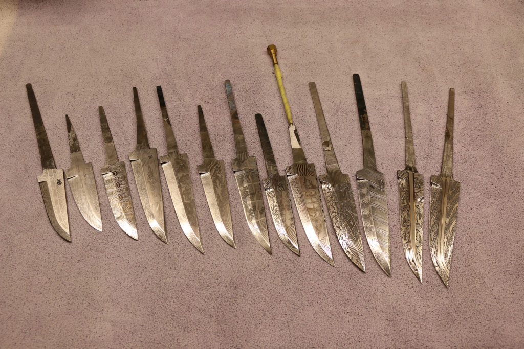 Various knife blades