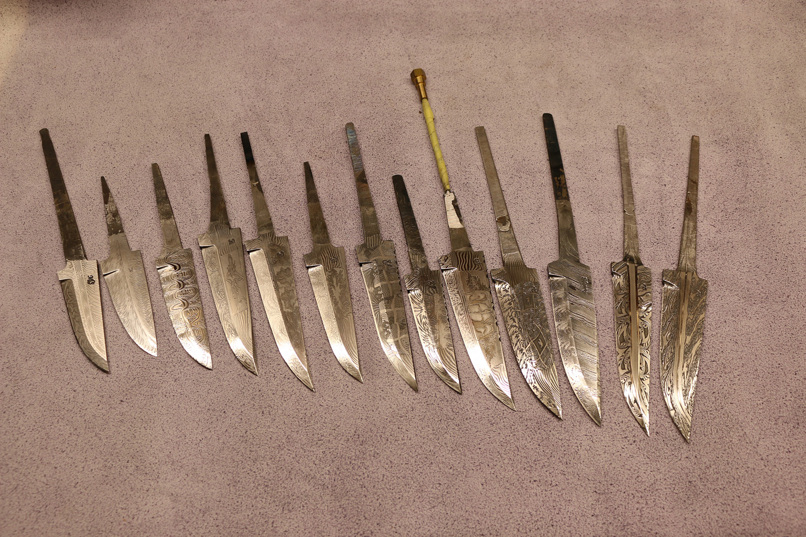 Knife Blade Materials And Descriptions From JSC Knife Art
